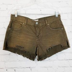 Free People Woody Wash Distressed Cutoff Shorts